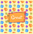 great inscription with presents and gifts seamless vector image