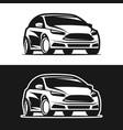 car icon silhouette vector image