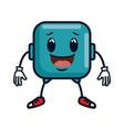 happy emoji square character vector image