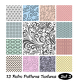 13 Retro Patterns Textures Set 3 vector image vector image