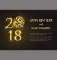 2018 happy new year and merry christmas vector image vector image
