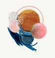 abstract modern background with watercolor round vector image