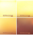 Abstract smooth blurred backgrounds set vector image