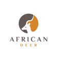 african deer logo design vector image vector image