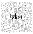 Big set of hand drawn doodle welcome back to vector image