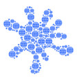 blot mosaic of internet icons vector image vector image