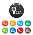 brain idea icons set color vector image
