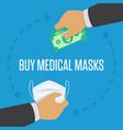 buy medical masks vector image