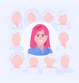 candidate business woman vector image