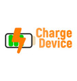 charge device logo and icon energy label for web vector image vector image