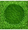 Circle on green grass vector image