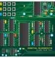 circuit board with microchips vector image vector image