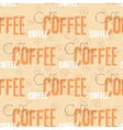 coffee text seamless pattern beige word vector image vector image