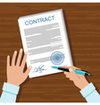 Contract for a business meeting vector image
