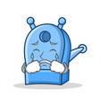 crying pencil sharpener character cartoon vector image vector image
