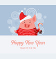 cute pig celebration new year happy chinese new vector image vector image