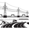 different infrastructural construction vector image vector image