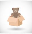 donation box flat icon vector image vector image