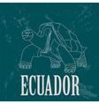 Ecuador landmarks Retro styled image vector image vector image