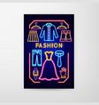 fashion neon flyer vector image
