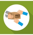 Flat of free delivery design vector image