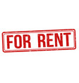 for rent sign or stamp vector image vector image