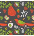 fruity wallpaper print vector image vector image