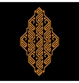 Golden and black ethnic geometric ornament vector image