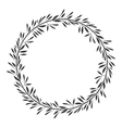 gray scale decorative crown of branch olive vector image vector image