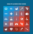 health and medicind icons vector image