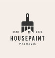 house paint hipster vintage logo icon vector image