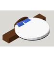 Isometric Home furniture - round bed Interior vector image vector image