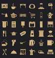 kitchen utensil icons set simple style vector image vector image
