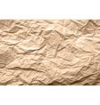 light brown texture crumpled paper vector image