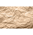 Light Brown Texture of Crumpled Paper vector image vector image