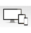 mock up set blank screens computer vector image