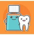 Mouthwash hugs tooth vector image vector image