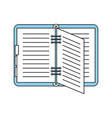 open notebook or agenda icon image vector image