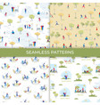 park recreation cartoon seamless pattern vector image vector image