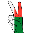 Peace Sign of the Madagascar flag vector image vector image