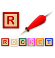 r is for rocket vector image vector image
