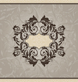 Revival ornamental card or invitation vector image
