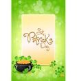Saint Patricks Day Card vector image vector image
