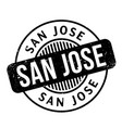 san jose rubber stamp vector image