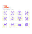 scanners icon set pixel perfect glyphs editable vector image vector image