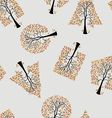 seamless wallpaper trees vector image vector image