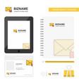 secure mail business logo tab app diary pvc vector image vector image