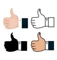 set hands like concept vector image