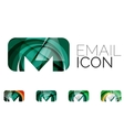 Set of abstract email icon business logotype vector image vector image