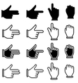 set of hand cursor pictograms vector image